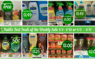Publix Best Deals of the Weekly Sale 9/4- 9/10 or 9/5 – 9/11