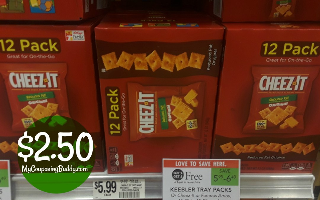 Cheez-It Snack Packs $2.50 at Publix