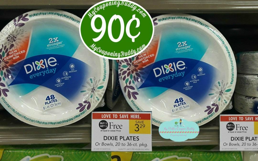 Dixie Plates or Bowls 90¢ at Publix