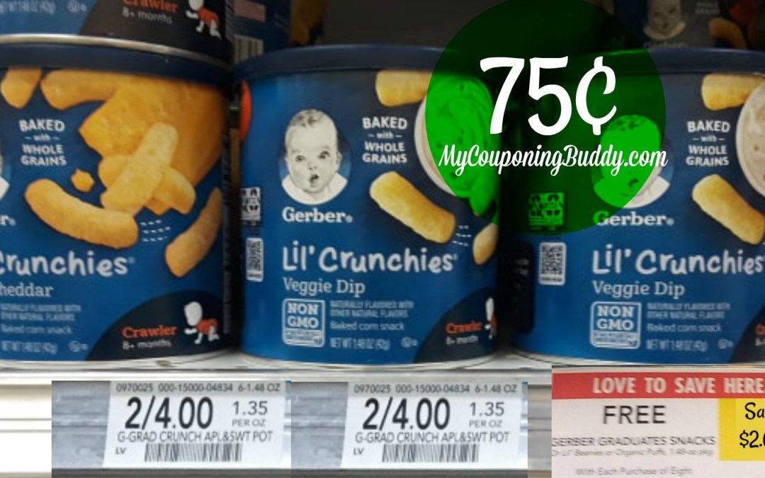 Gerber Snacks as low as 75¢ at Publix