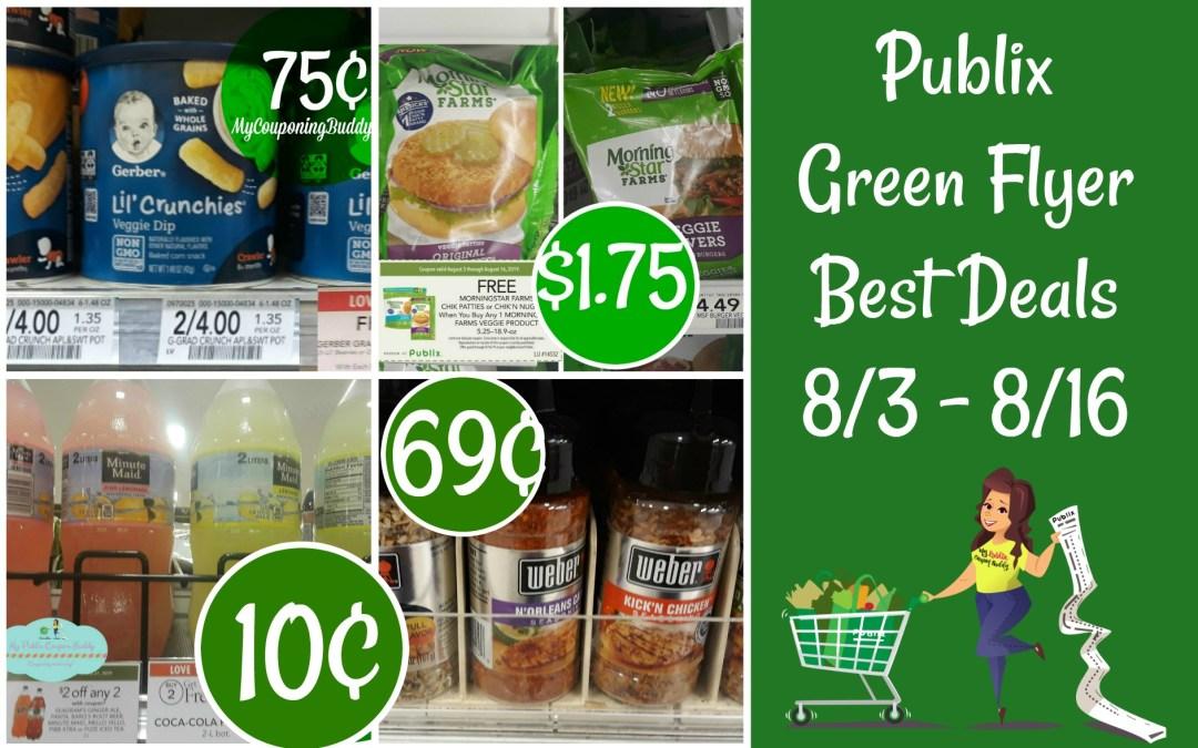 Publix Green Flyer Best Deals 8/3 -8/16