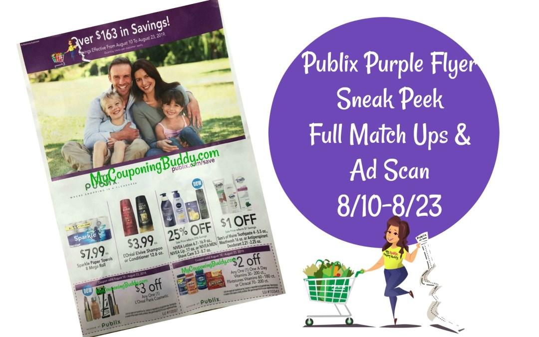 Publix Purple FlyerSneak Peek 8/10-8/23