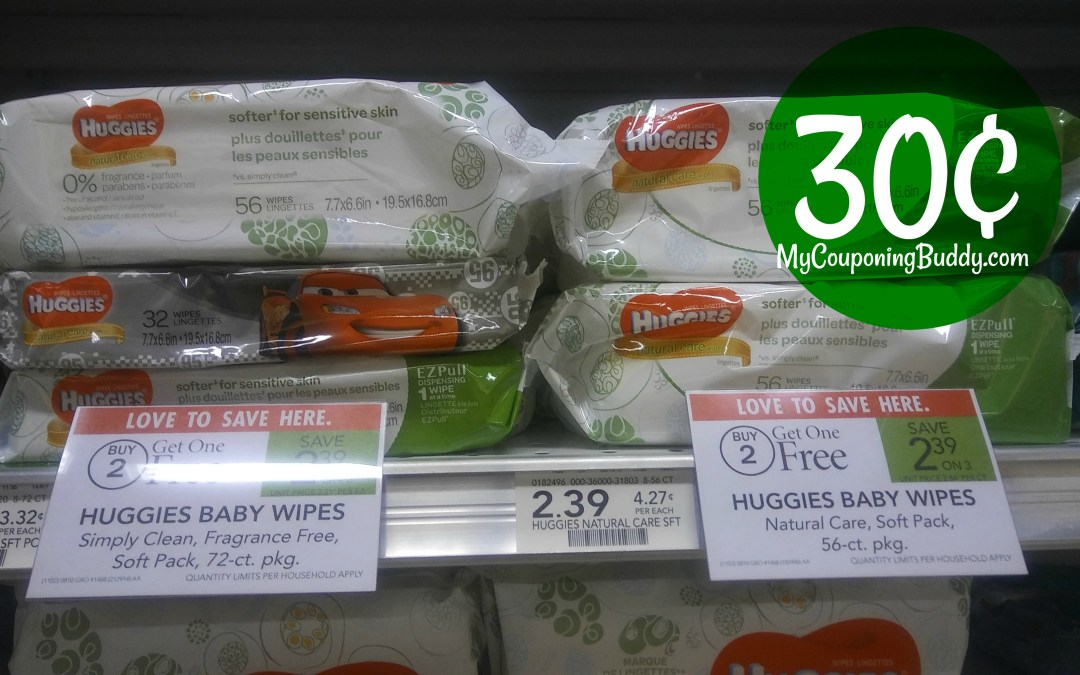 Huggies wipes soft pack just 30¢ at Publix
