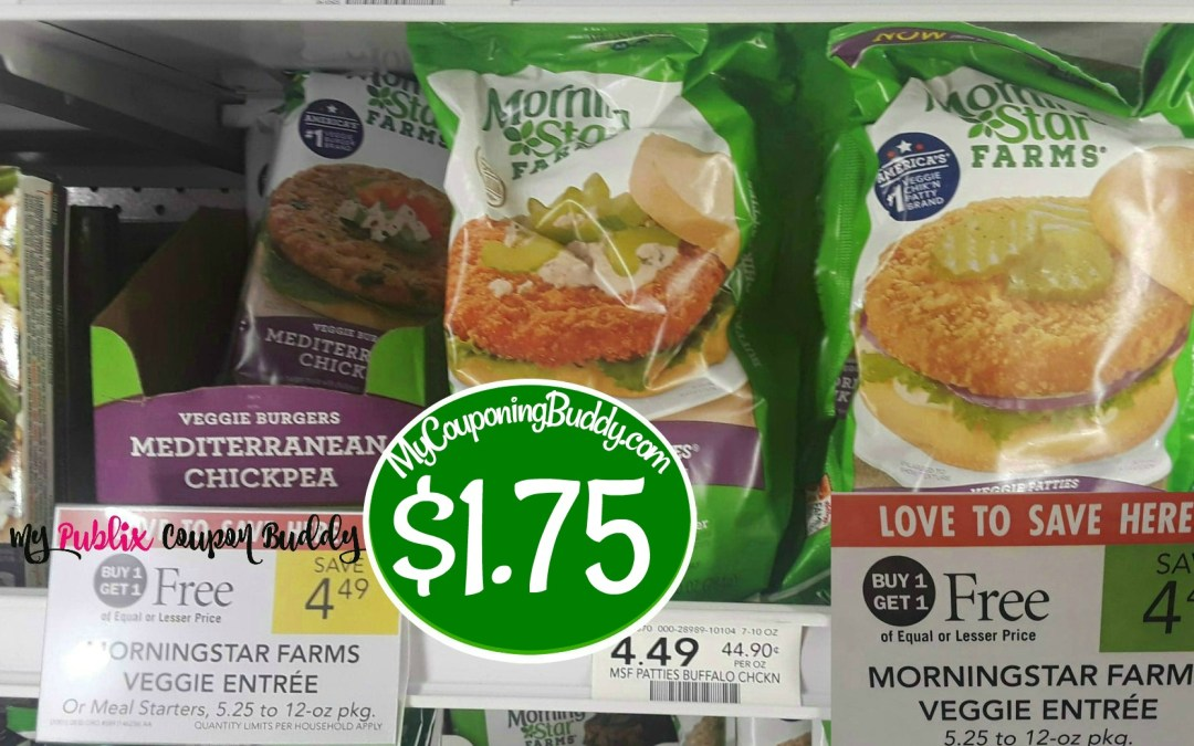 Morning Star Farms Veggie Entrees $1.75 at Publix