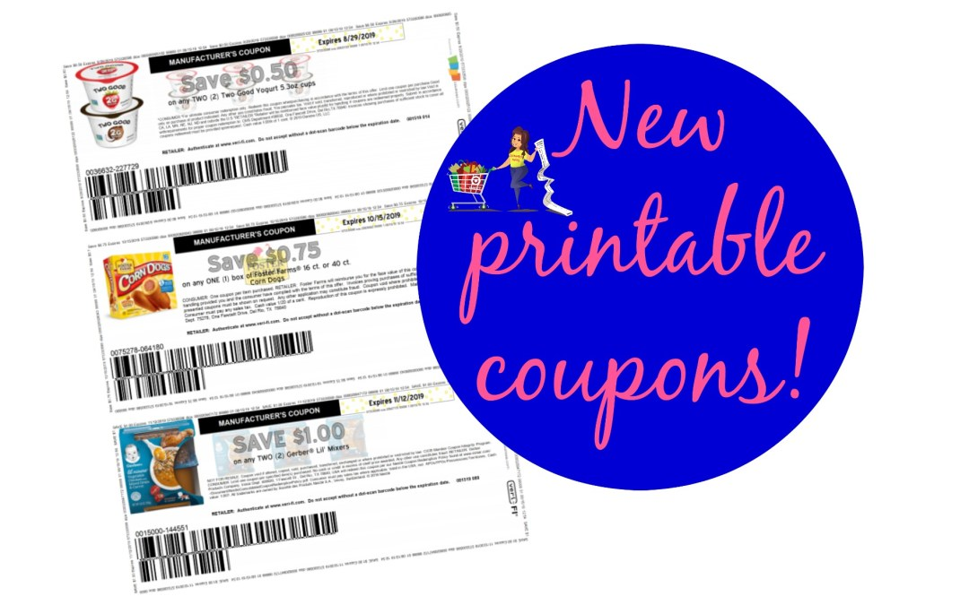 New Printable Coupons Gerber, Foster Farms and more!