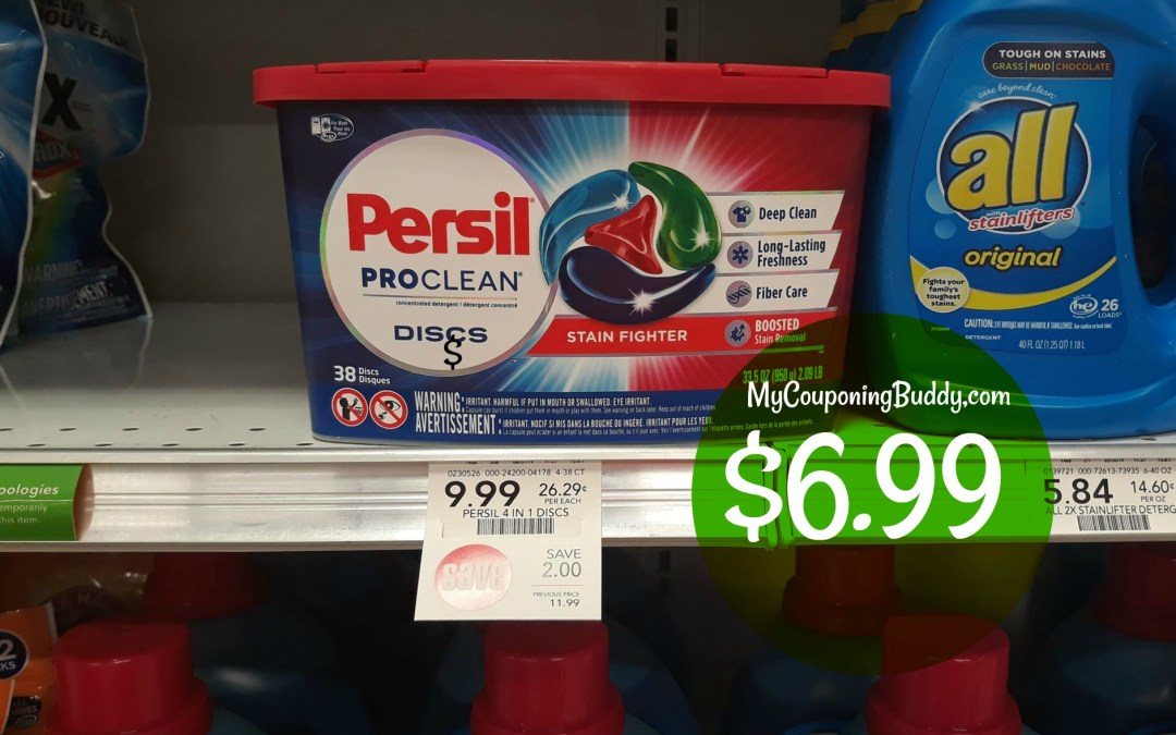 Persil Discs 38 ct. $6.99 at Publix