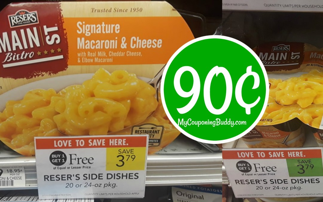 Reser's Side Dishes 90¢ at Publix