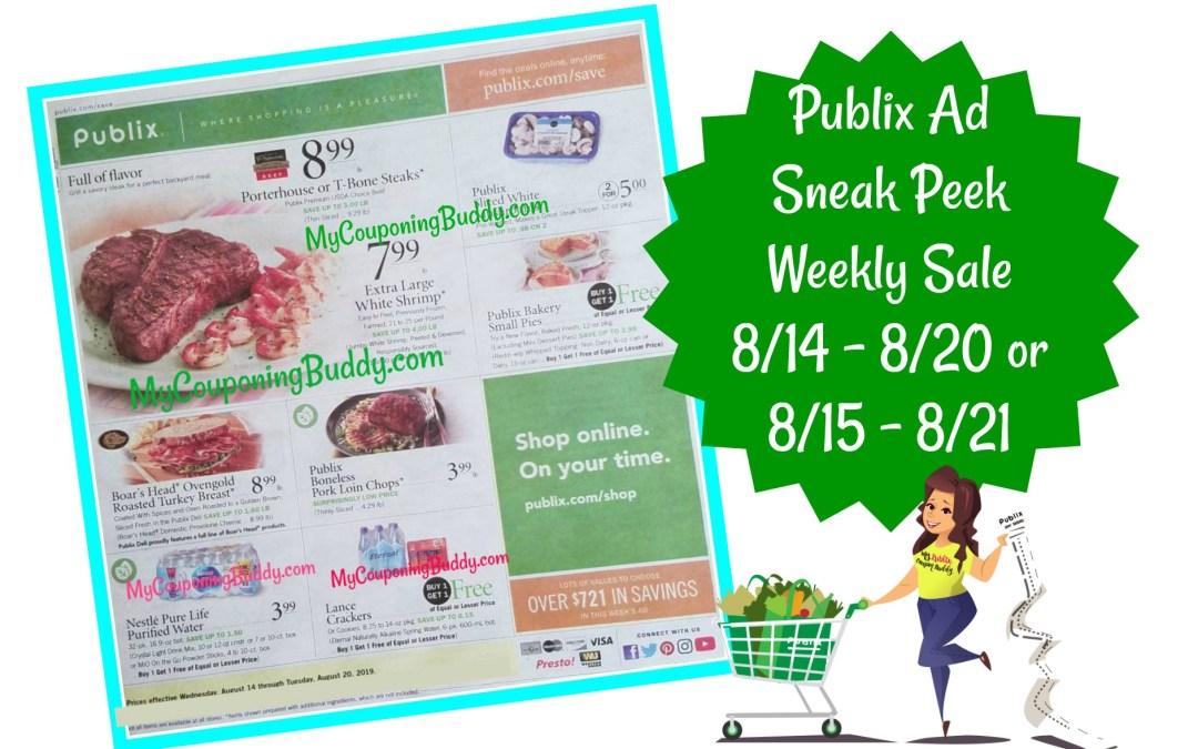 Publix Weekly Ad Sneak Peek 8/14 – 8/20 or 8/15 – 8/21