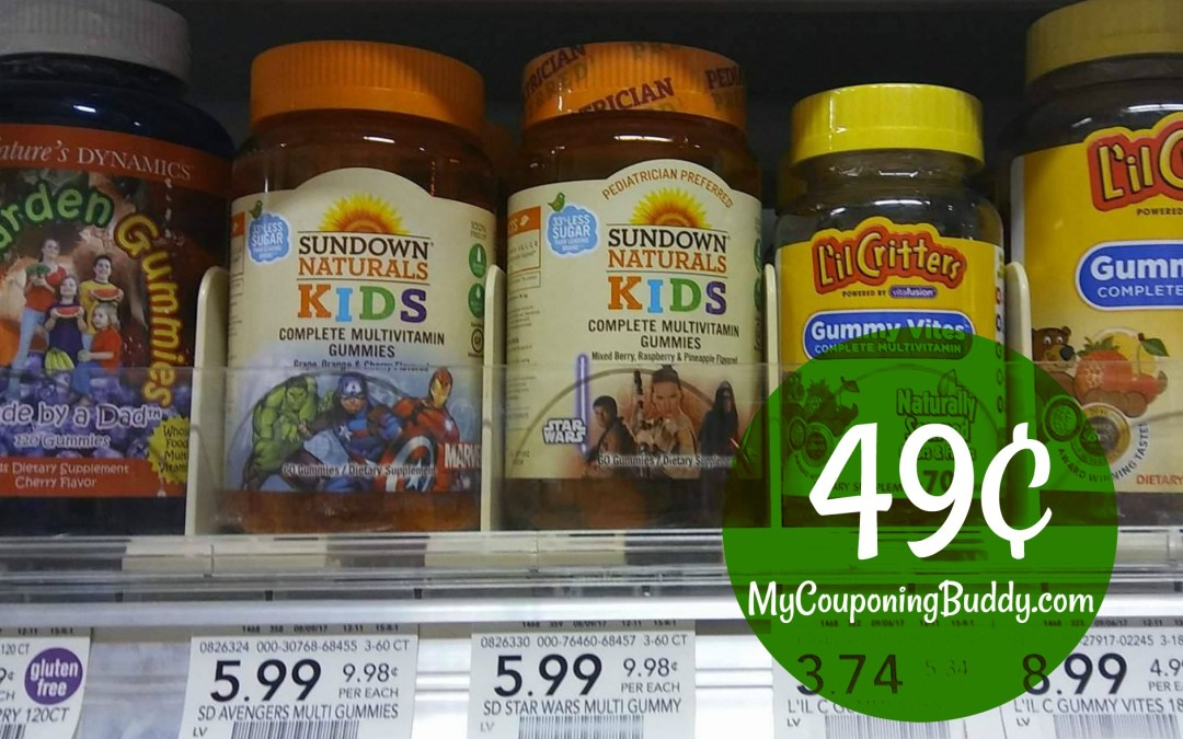 Sundown Kids Vitamins 49¢ at Publix