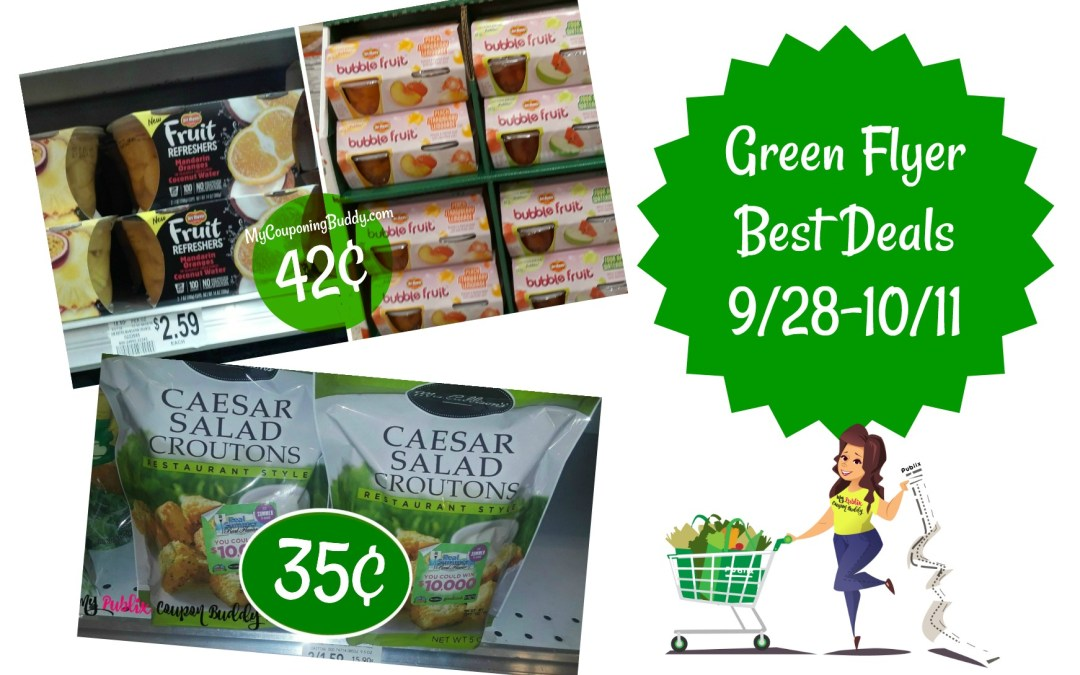 Publix Green Flyer Best Deals 9/28-10/11