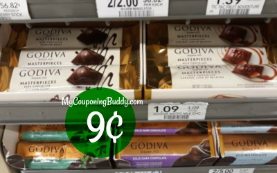 Godiva Masterpiece Bar 9¢ at Publix