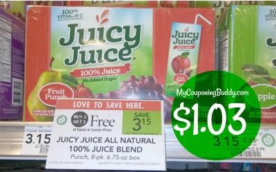Juicy Juice 8pk $1.03 at Publix