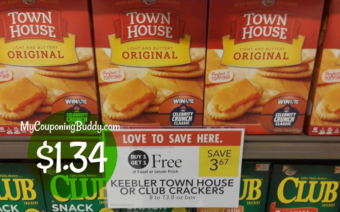 Keebler Townhouse Crackers $1.34 at Publix
