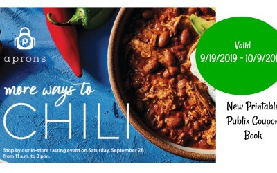 """Publix Coupon Book """" More Ways to Chili"""" 9/19/2019 – 10/9/2019"""