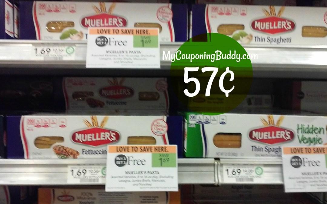 Mueller's Pasta 57¢ at Publix