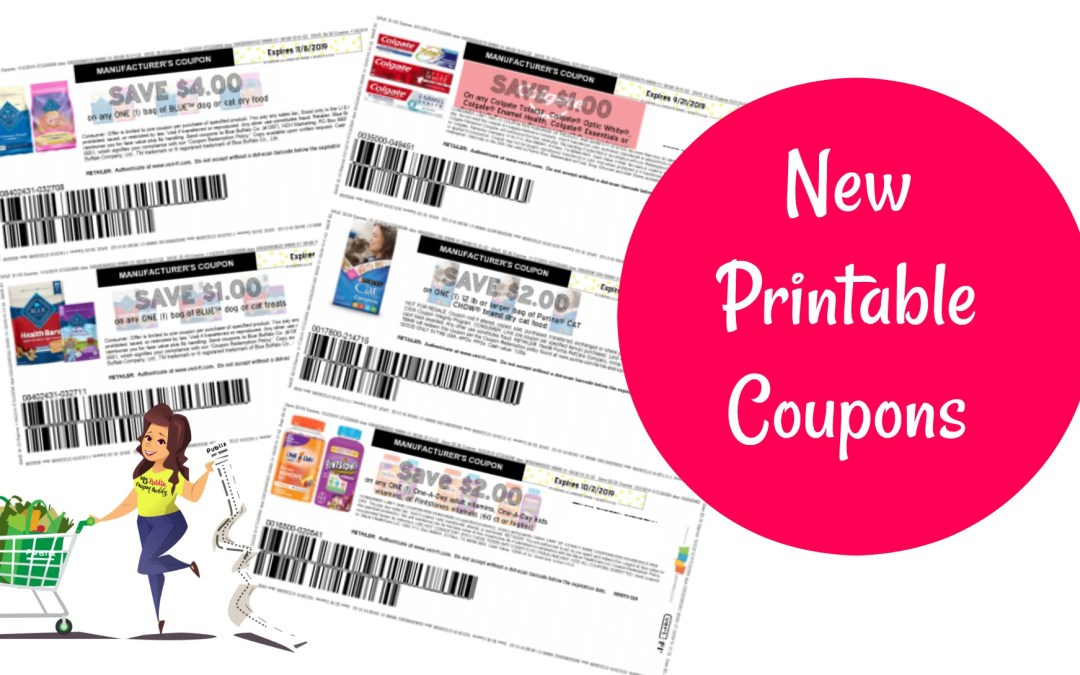 New printable coupons Flinstones, Blue Dog Food