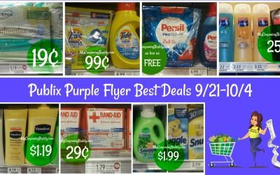 Publix Purple Flyer Best Deals 9/21-10/4