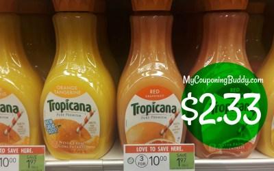 Tropicana Premium Juices $2.33 at Publix