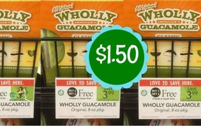 Wholly Guacamole$1.50 at Publix