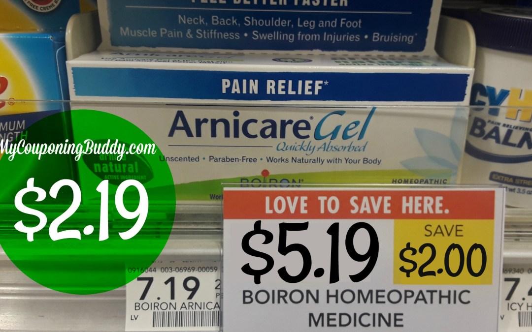 Boiron Arnicare Gel Pain Relief, 2.6-oz box Publix