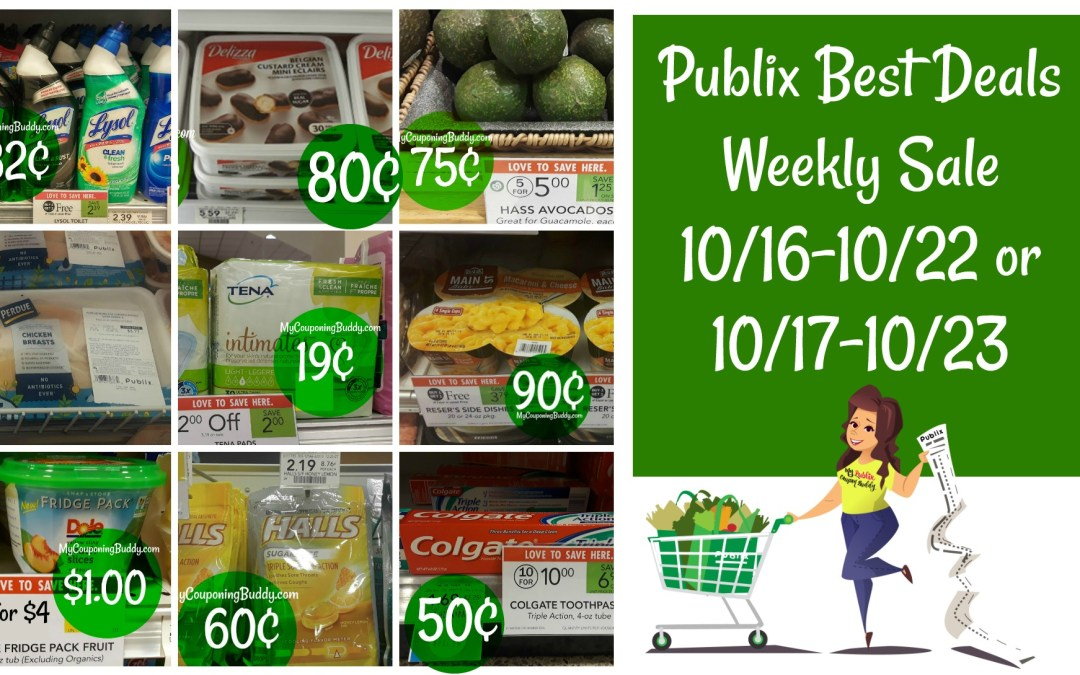 Publix Best Deals of the Weekly Sale 10/16-10/22 or 10/17-10/23