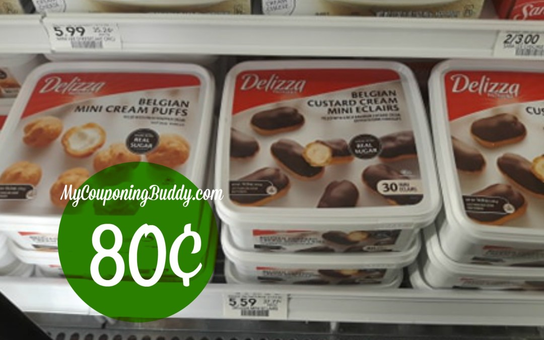 Delizza Belgian Mini Eclairs or Cream Puffs just 80¢ at Publix