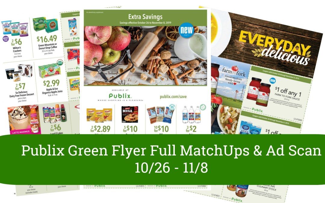 Publix Green Flyer Full MatchUps & Ad Scan 10/26 – 11/8