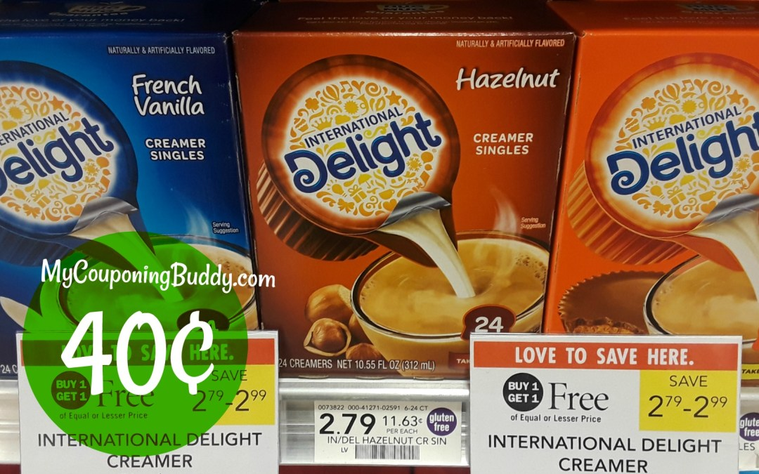24 ct International Delight Creamers 35¢ at Publix