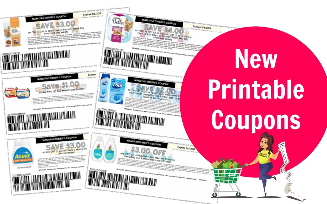 Over 40 New Printable Coupons ~ Click here to print now