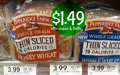 Pepperidge Farm Thin Sliced Bread $1.49 after coupons & Ibotta at Publix