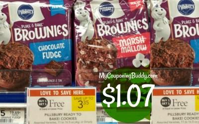 Pillsbury Place and Bake Brownies $1.07 at Publix