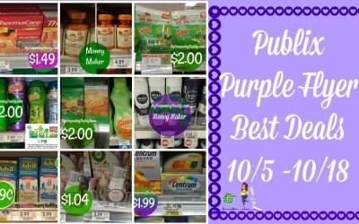 Publix Purple Flyer Best Deals 10/5 -10/18