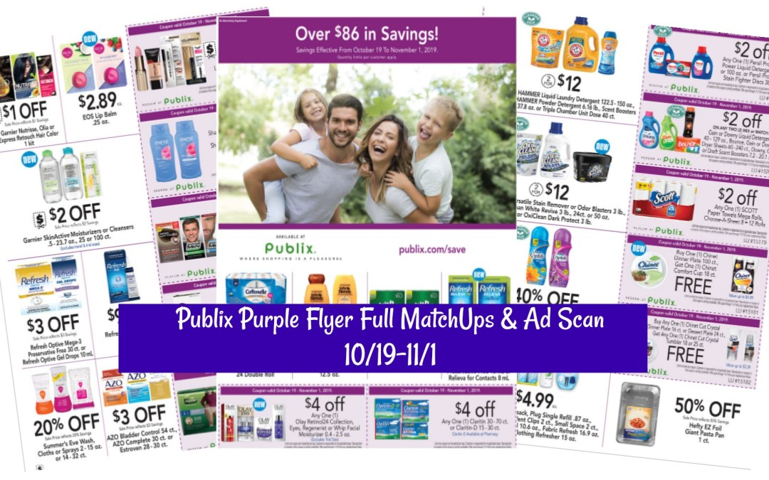 Publix Purple Flyer Full MatchUps & Ad Scan 10/19-11/1