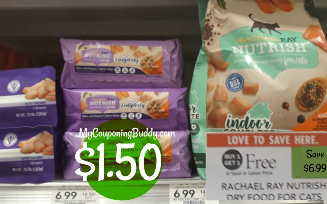 Rachael Ray Nutrish Dry Food for Cats $1.50 at Publix