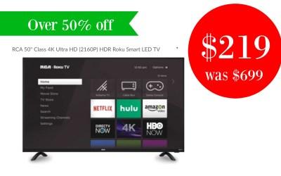 RCA 50″ Class 4K Ultra HD TV just $219!!!