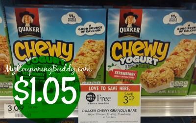 Quaker Chewy Granola Bars $1.05 at Publix