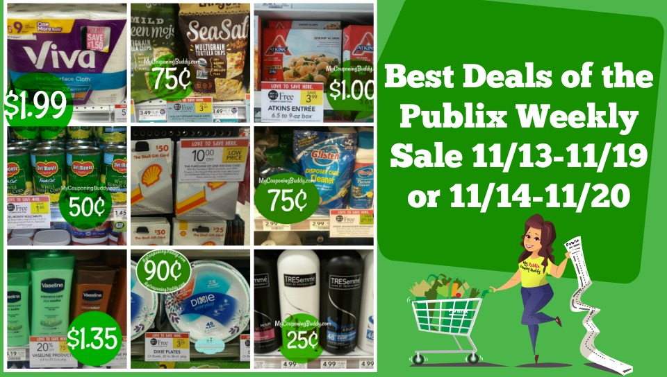 Best Deals of the Publix Weekly Sale 11/13-11/19 or 11/14-11/20
