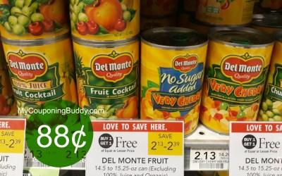 Del Monte Caanned Fruit 88¢ at Publix