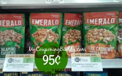 Emerald Cashews Mixed Nuts Or Walnuts, Pecans, or Virginia Peanuts 95¢ at Publix