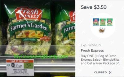 Fresh Express Salad Get FREE Walnuts Publix Digital Coupon