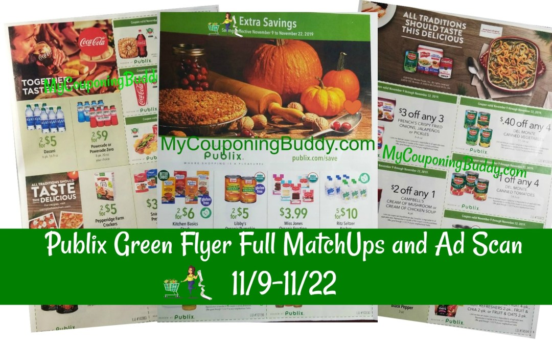 Publix Green Flyer Full MatchUps and Ad Scan 11/9-11/22