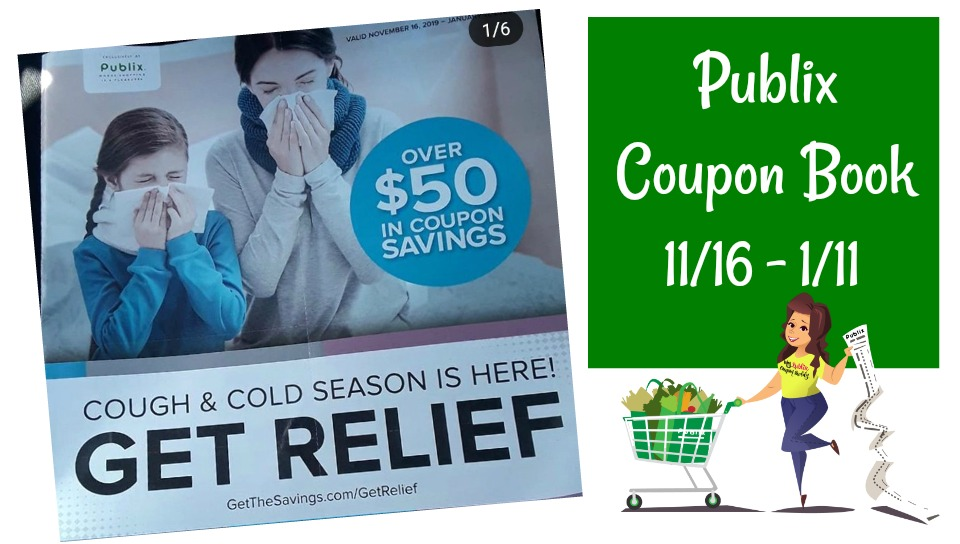 """Publix Coupon Book """" Get Relief """" Full Matchups & Scan valid 11/16 – 1/11"""