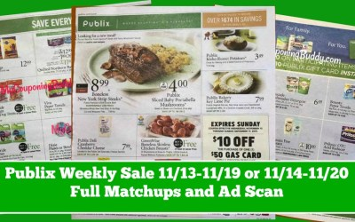 Publix Weekly Sale 11/13-11/19 or 11/14-11/20 Full Matchups and Ad Scan
