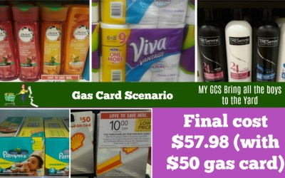 Publix Gas Card Scenario #1 $57.98 for all (includes cost of $50 gas card)