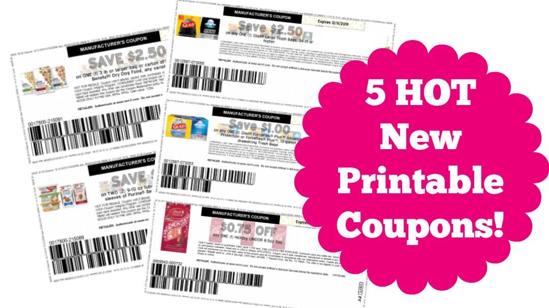New printable coupons for Glad, Lindor and Beneful Dog Food