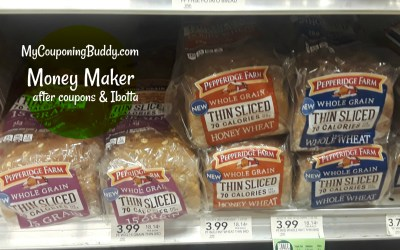 Pepperidge Farm Thin Sliced Bread Money Maker after Coupons & Ibotta at Publix