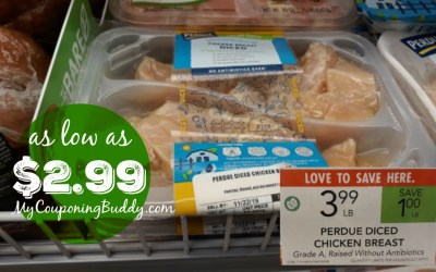 Great Deal on Perdue Fresh Cuts Diced Chicken Breast at Publix