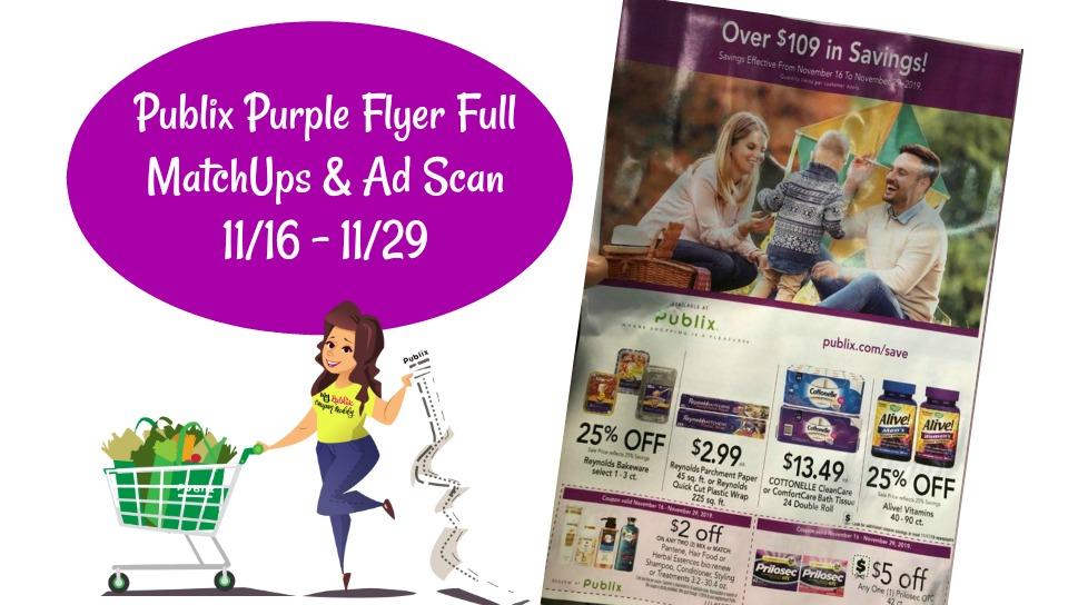 Publix Purple Flyer 11/16 – 11/29 Full MatchUps & Ad Scan