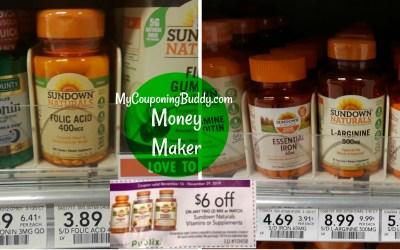 $8.00 or more Money Maker on Sundown Vitamins at Publix