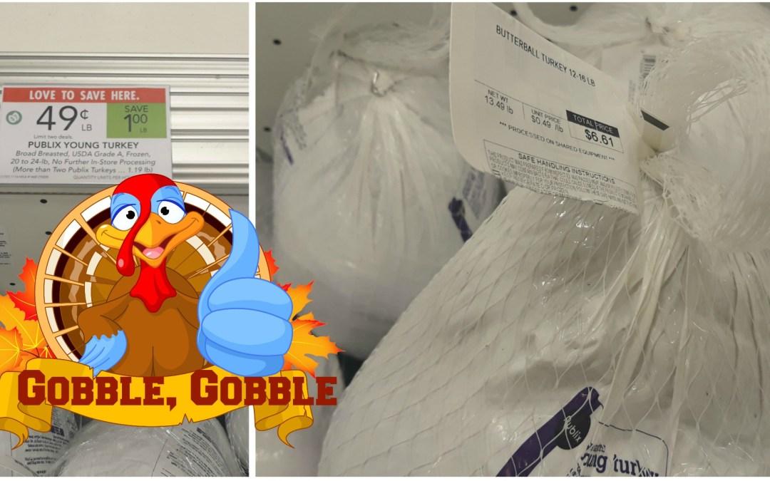 Publix Young Turkey, Frozen, 10 to 24-lb 49¢/lb